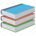 books, education, literature, notebooks, study icon