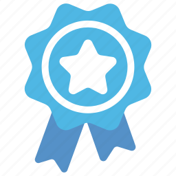 badge, premium, prize, quality, ribbon badge icon