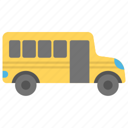 bus, coach, school bus, travel, vehicle icon