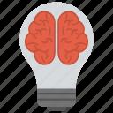 creating ideas, creativity, glowing brain, idea, thinking