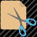 cutting tool, paper cutting, scissor, shear, snip icon