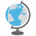 desk globe, geography, globe, map, table globe icon