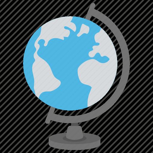 desk globe, geography, globe, map, table globe icon