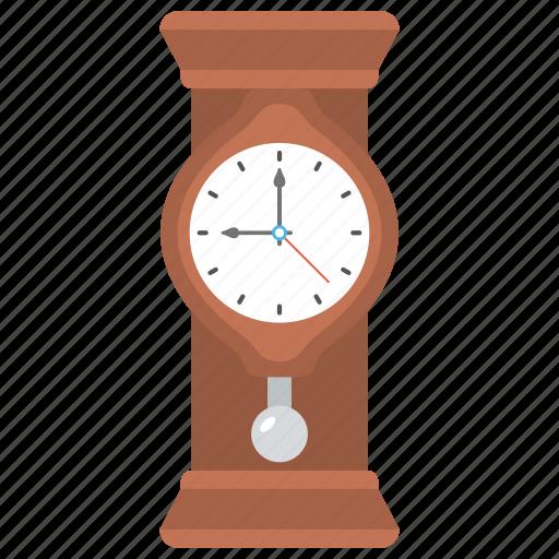 clock, floor clock, grandfather clock, pendulum clock, pendulum wall clock icon