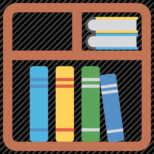 books almirah, books rack, bookshelf, files almirah, furniture icon