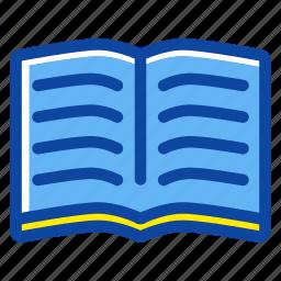 book, education, note, notebook, open book, read, school icon