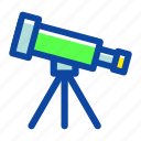 astronomy, education, research, school, star, tele, telescope icon