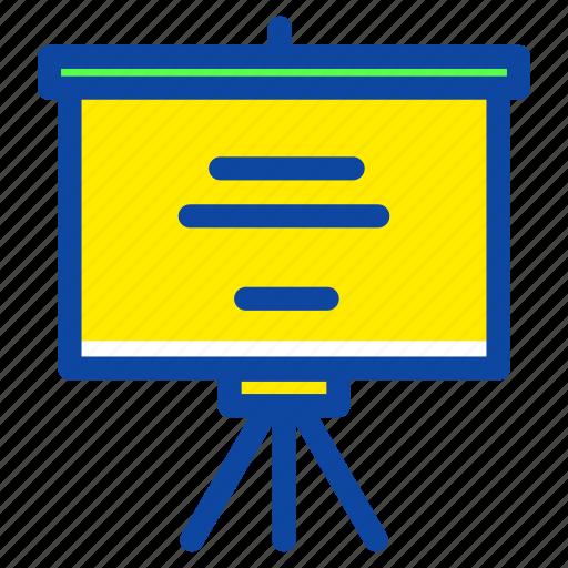 education, learning, office, presentation, school, slide, work icon