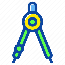 compass, education, learning, math, school, study icon
