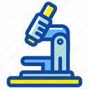 education, experiment, laboratory, microscope, research, school, science icon