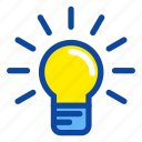 bright, bulb, education, idea, school, science icon