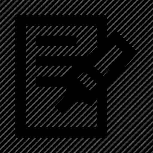 document, felt, marker, office, pen, stationery icon