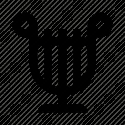 harp, music, notes, sound icon