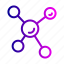 atom, atomic, electron, molecular, science icon