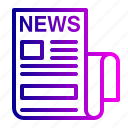communication, media, news, newspaper, paper icon