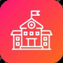 building, estate, real, school, university icon