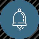 alert, bell, hand, ring, school icon