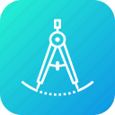 compass, divider, drawing, geometrical, geometry, tool icon