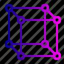 cube, geometry, hypercube, mathematics, molecule icon