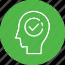 done, head, human, mind, thinking icon