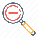 checkmark, done, explore, find, magnifier, remove, search icon