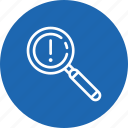 checkmark, done, error, explore, find, magnifier, search icon