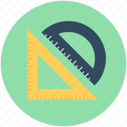 degree square, degree tool, geometry tools, measuring tool, protractor icon