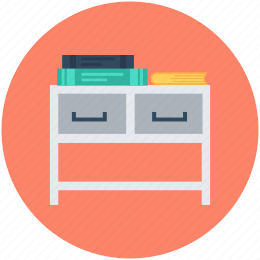bureau, desk drawer, drawers, furniture, office desk, study desk icon