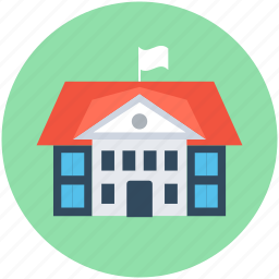 building, real estate, school, school building, university icon