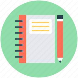 book, notebook, notepad, pencil, writing icon