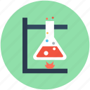 conical flask, flask, lab equipment, lab experiment, lab research icon