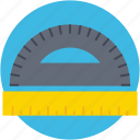 degree tool, geometry tool, measuring tool, protractor, ruler icon