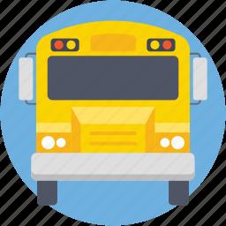 autobus, bus, school bus, transport, vehicle icon