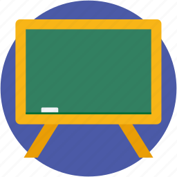 blackboard, chalkboard, easel, whiteboard, writing board icon