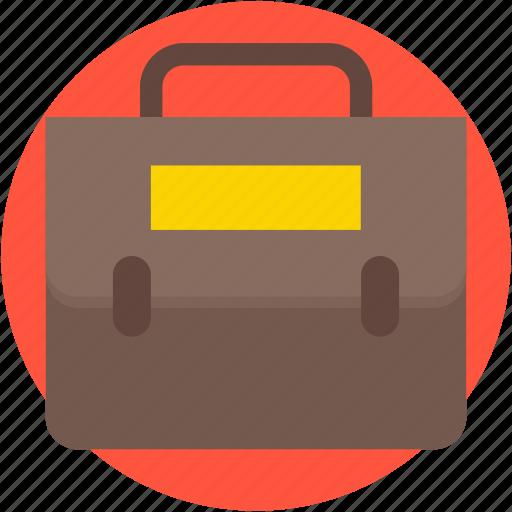 books bag, briefcase, documents bag, portfolio, school bag icon