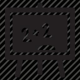 blackboard, education, math icon
