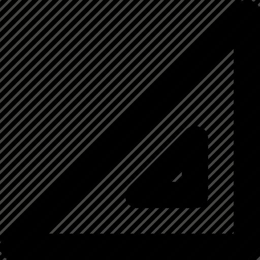 degree square, drafting, geometry, measure, set square icon