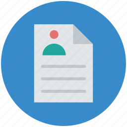application, cv, document, form, paper, resume icon