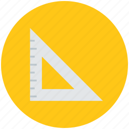 geometry, geometry tools, measuring instrument, protractor, set square icon