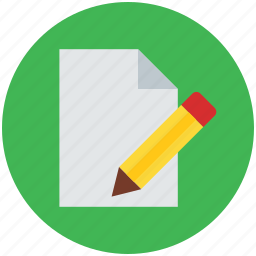 document, lead pencil, note, pencil and paper, text, write, writing icon