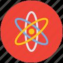 atom, atomic, electron, orbitals, planetary system, solar system icon