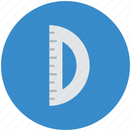 degree tool, geometry, geometry tools, instruments, measuring, protractor icon