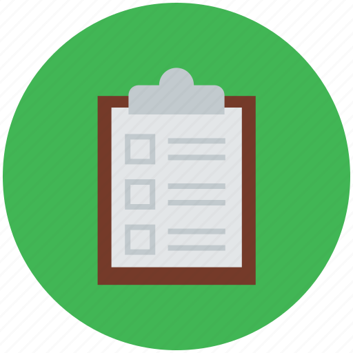 checklist, clipboard, document, file, list, todo icon