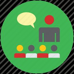 classroom, lecturer, professor, teach, teacher, teaching, tutor, whiteboard icon