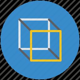 cube, cube molecule, hypercube, misc, molecule, molecule shape, polygon, science icon