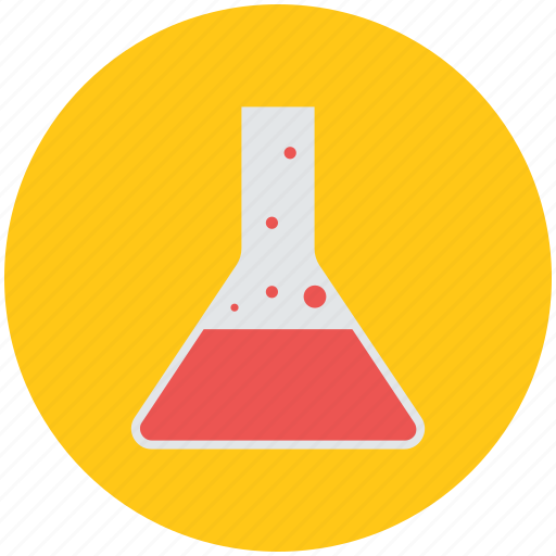conical flask, erlenmeyer flask, lab flask, lab glassware, laboratory, science icon