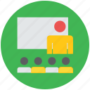 classroom, lecturer, professor, teach, teacher, teaching, tutor, whiteboard icon