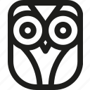 animal, bird, education, learn, learning, owl icon