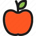 apple, food, fruit, healthy, meal, sweet, vegetable icon