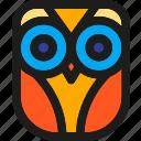 bird, face, halloween, horror, owl, wisdom, wise icon